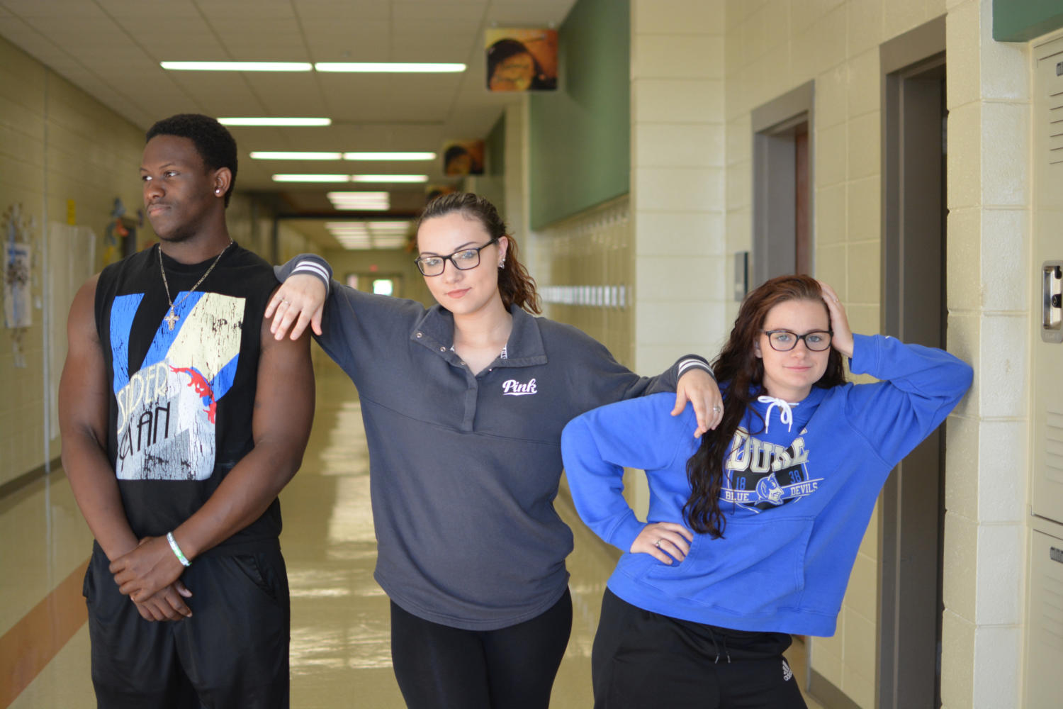 Senior Prowl members, from left to right, Tashaun Wallace, Taylor Mathis and Bailey Soden.