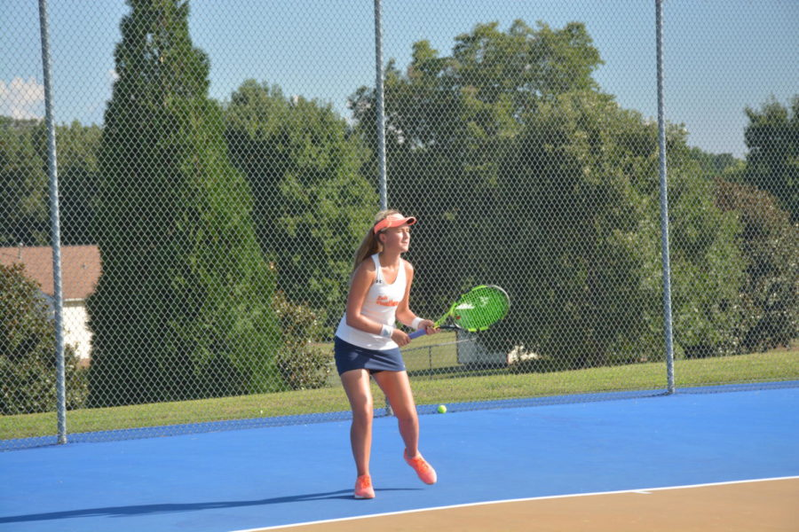 Girls tennis continues undefeated season