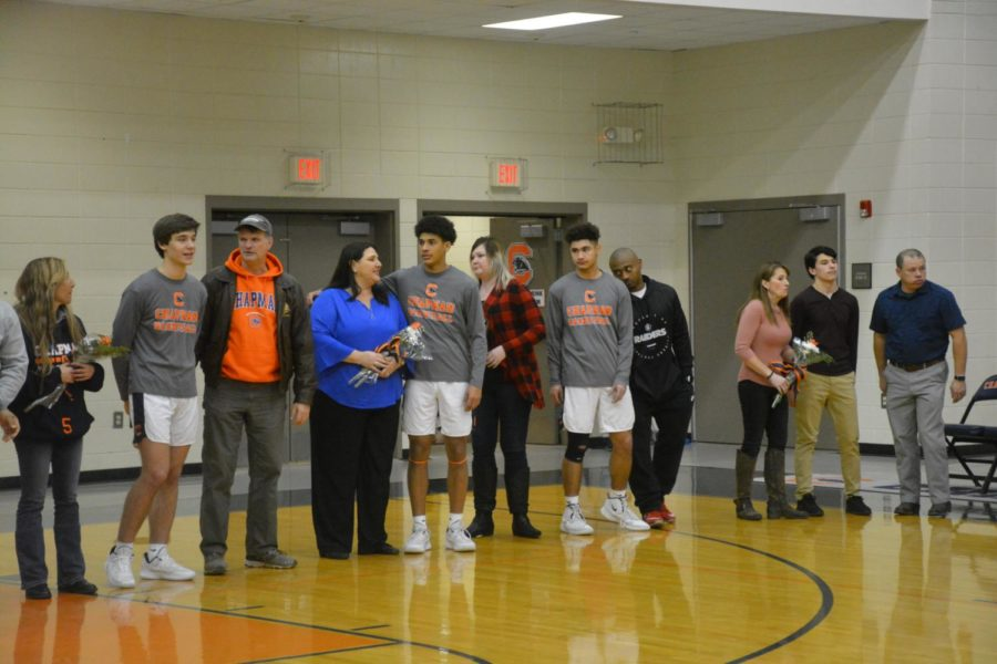 Seven+seniors+were+recognized+for+their+accomplishments+over+the+past+four+years+at+the+winter+sports+senior+night.