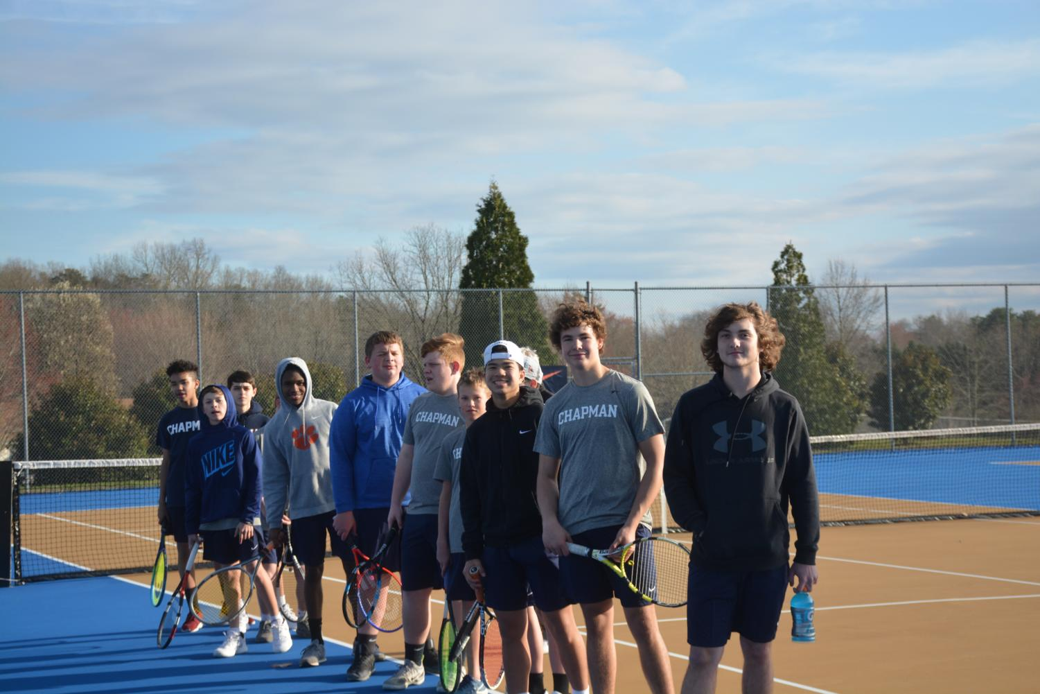 2019 boys tennis team.