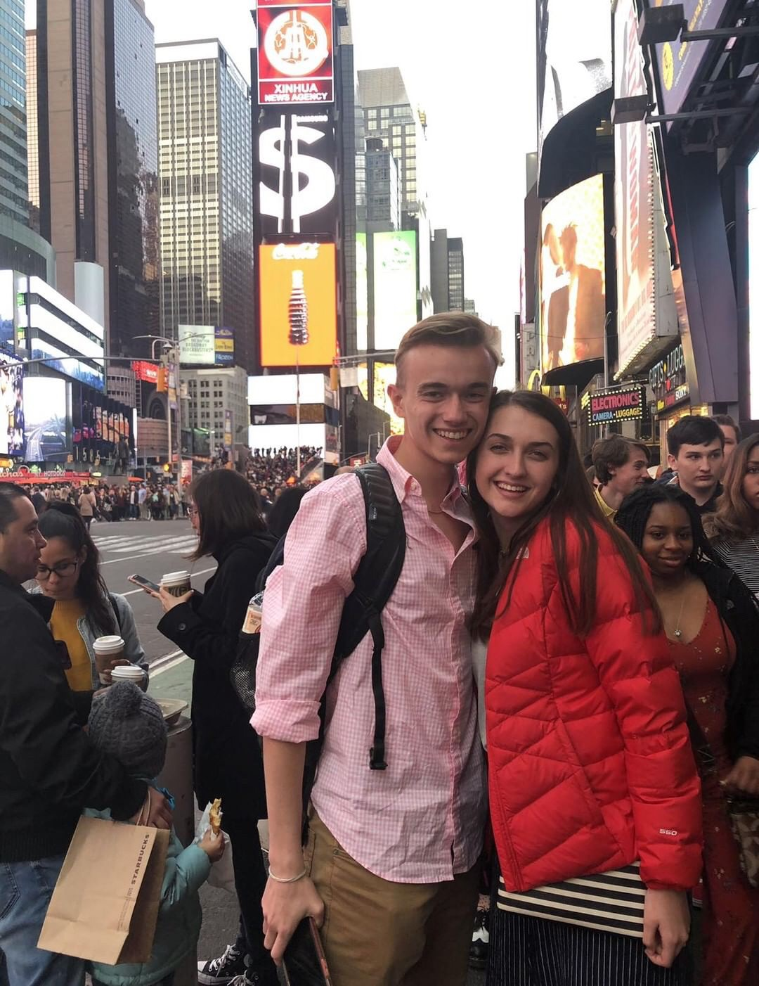 Seniors Bailey Sumner and Cassidy Bell in New York City