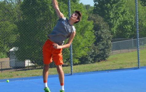 Photo Gallery: Boys Tennis hosts Boiling Springs for senior night