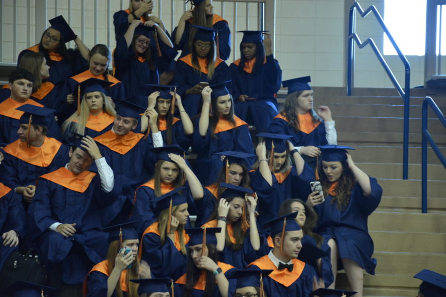 Class of 2019 at cap and gown pictures