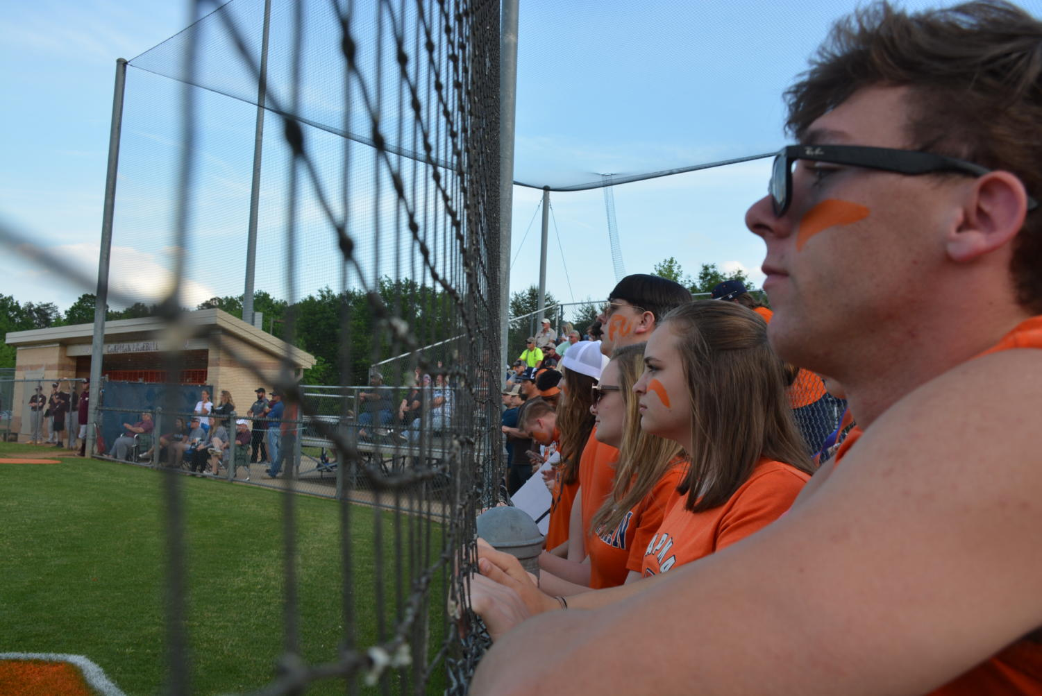 Students+intensely+watching+the+baseball+game+