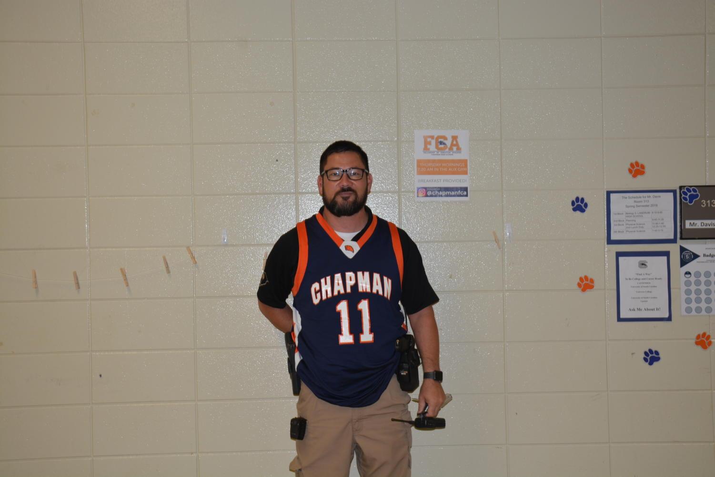 Officer+Irwin+representing+his+favorite+team%2C+Chapman+High+School