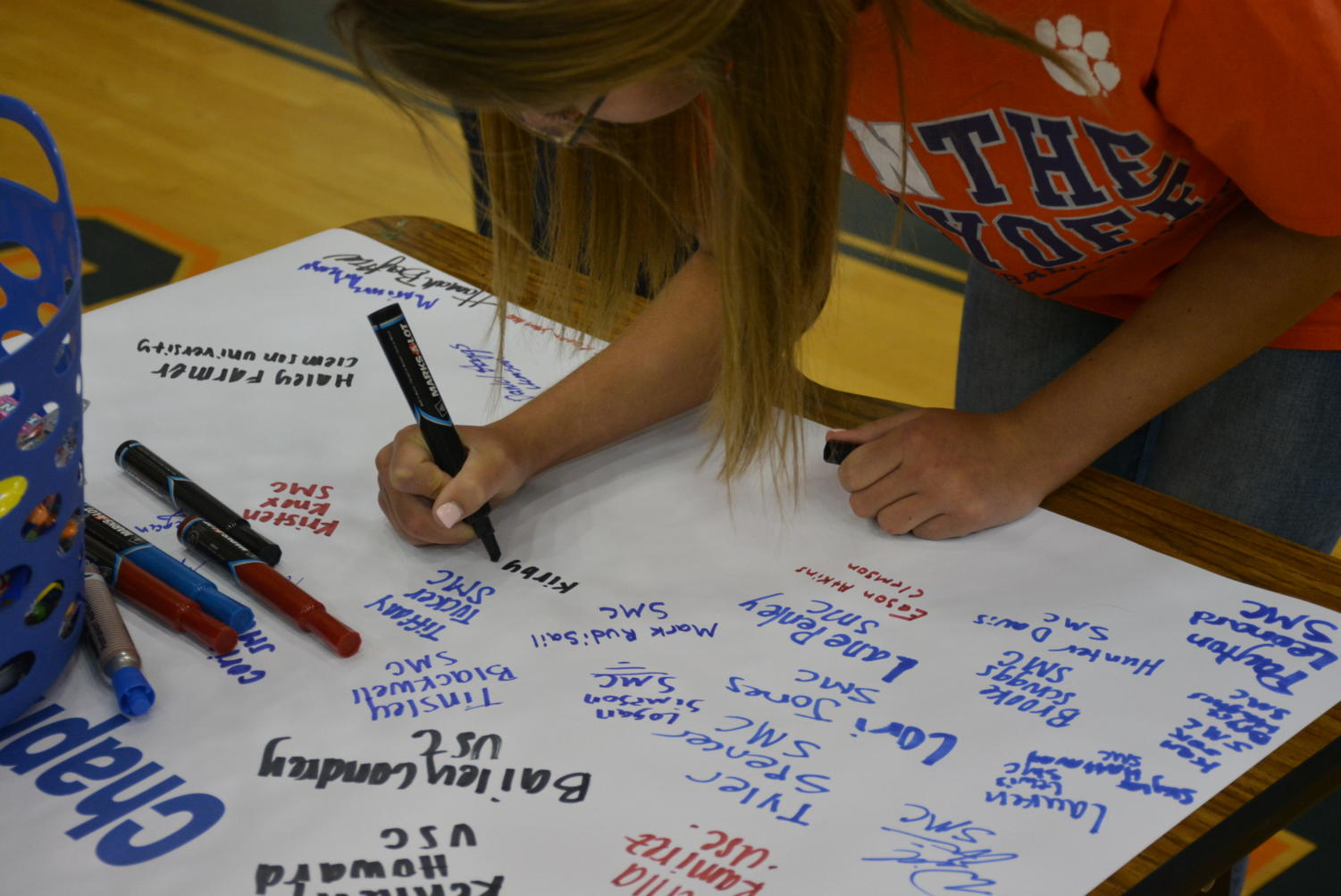 Kirby+Brown+signs+to+Clemson+University.+