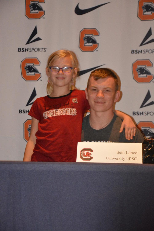 Seth+Lance+signing+to+cheer+at+University+of+South+Carolina