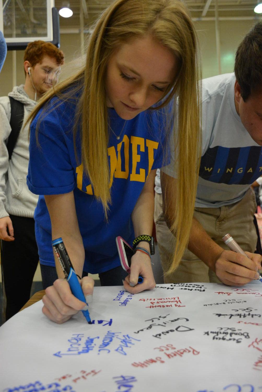 Karley+Moore+signs+to+Lander+University.+
