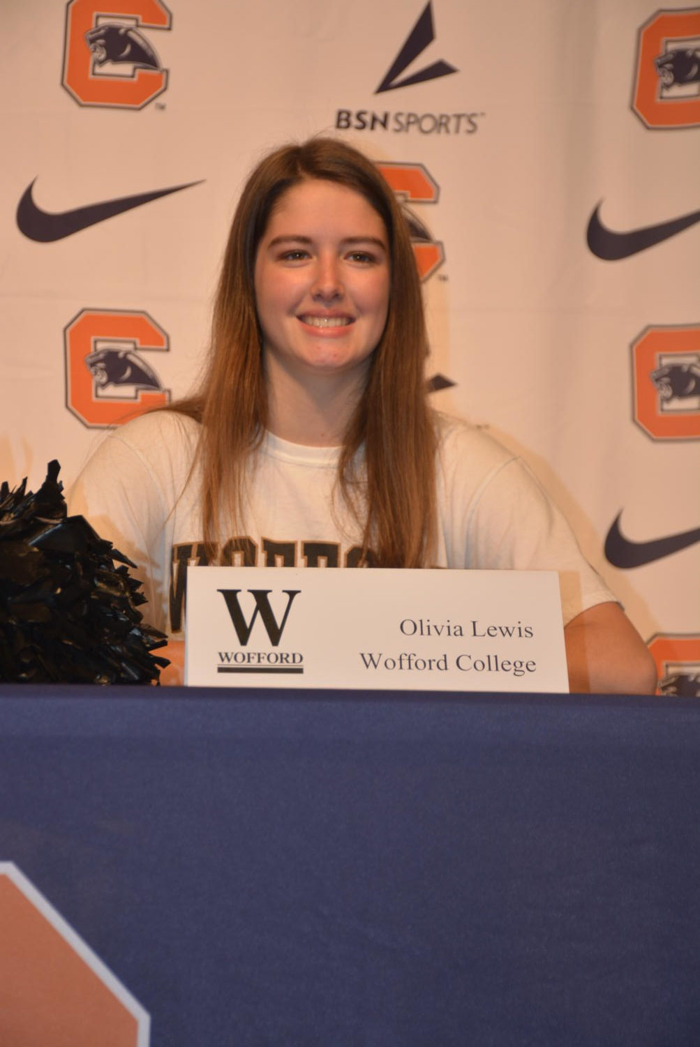 Olivia+Lewis+signing+to+cheer+at+Wofford+College