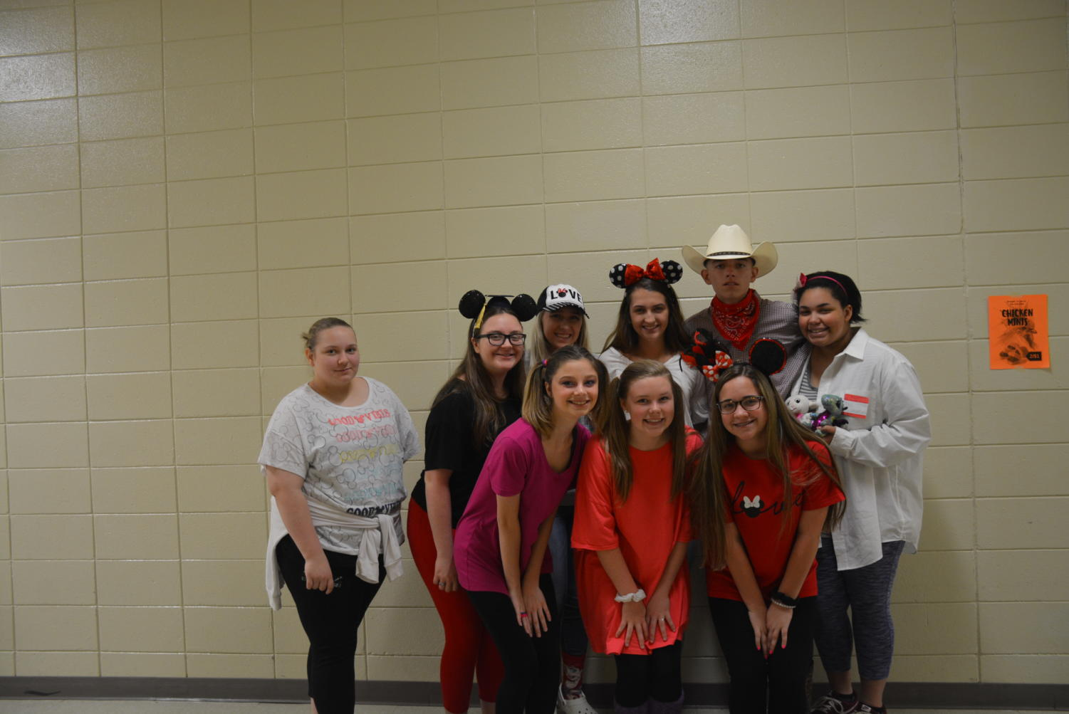 Students+from+chorus+dressed+up+for+Disney+day