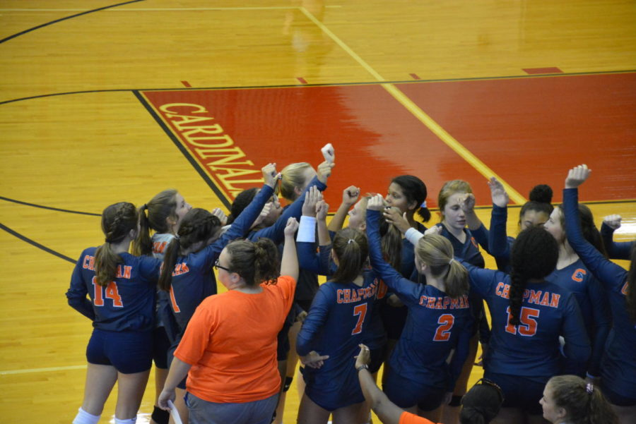 JV+volleyball+before+the+game+against+Landrum+begins.+