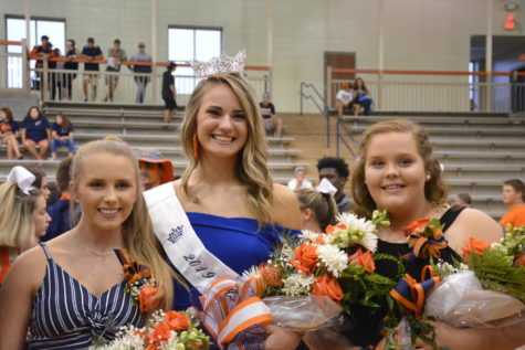 First runner-up Ashlyn Cook, 2019 CHS Homecoming Queen Tara Lunsford and second runner-up Sierra Vinson