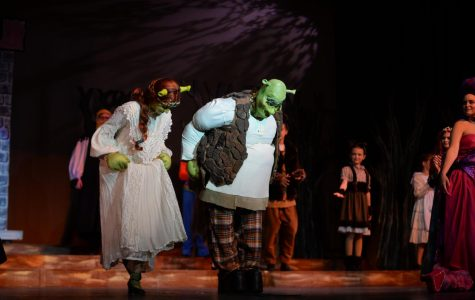 Cast members take a bow at the end of 'Shrek The Musical,