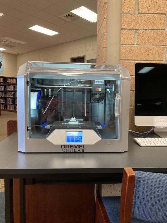 The Chapman media center's new 3D printer.