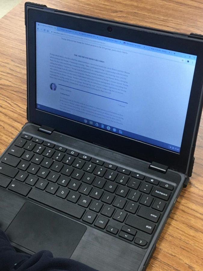 A student Chromebook.