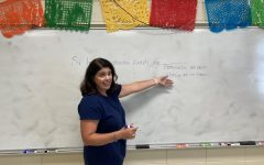 AP Spanish teacher Amanda Coates instructs her AP Spanish class on si clauses. Coates had 100% of her students pass the exam